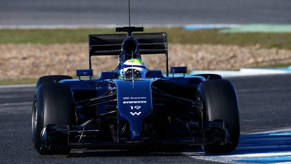 Felipe Massa estreia pela Williams com segundo tempo em Jerez