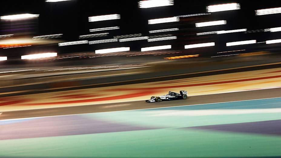 Lewis Hamilton, da Mercedes durante o Grande Prêmio do Bahrein de Fómula 1