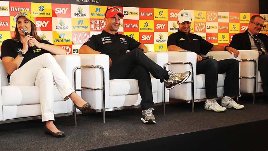Coletiva com os pilotos brasileiros da Fórmula Indy