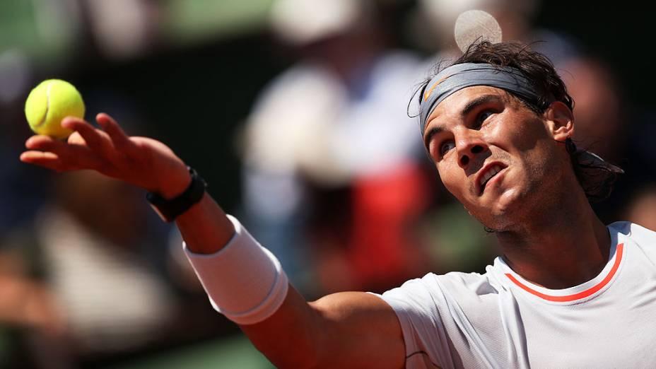 Rafael Nadal, após passar por Novak Djokovic: mais uma final em Roland Garros