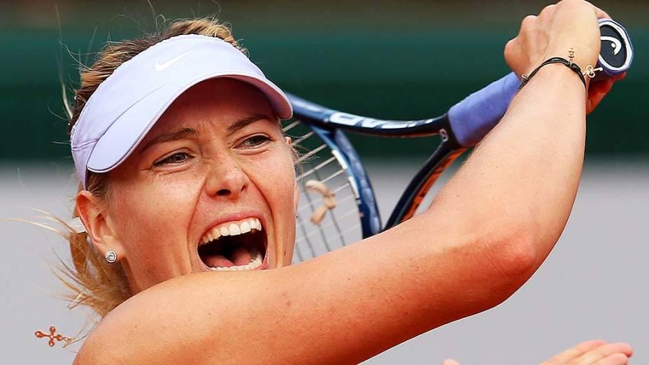 Maria Sharapova, vice-campeã em Roland Garros em 2013