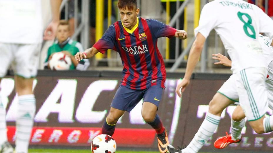 Neymar estreia no Barcelona, em amistoso contra o Lechia Gdansk na Polônia