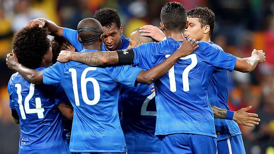 Brasil todo de azul contra a África do Sul