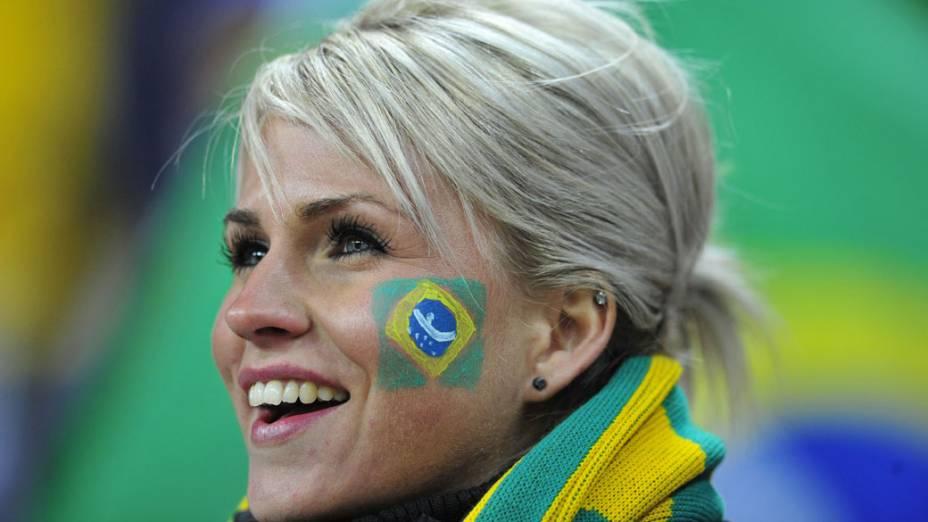 Torcida chega para amistoso de Brasil e Inglaterra no Estádio de Wembley em Londres