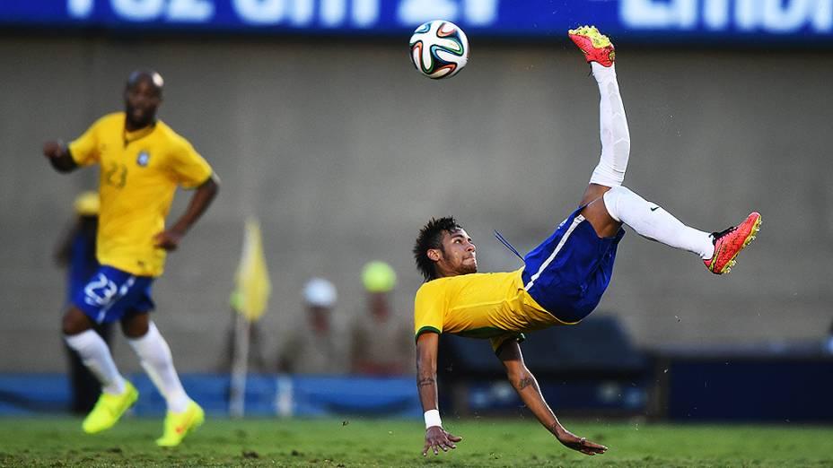 Neymar no amistoso contra o Panamá, em Goiânia