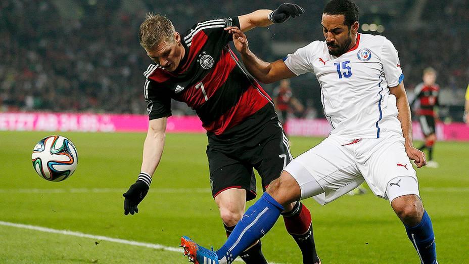 A Alemanha venceu o Chile por 1 a 0 em amistoso disputado na cidade de Stuttgart