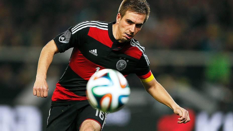 Philipp Lahm na vitória da Alemanha sobre o Chile por 1 a 0 em amistoso disputado na cidade de Stuttgart