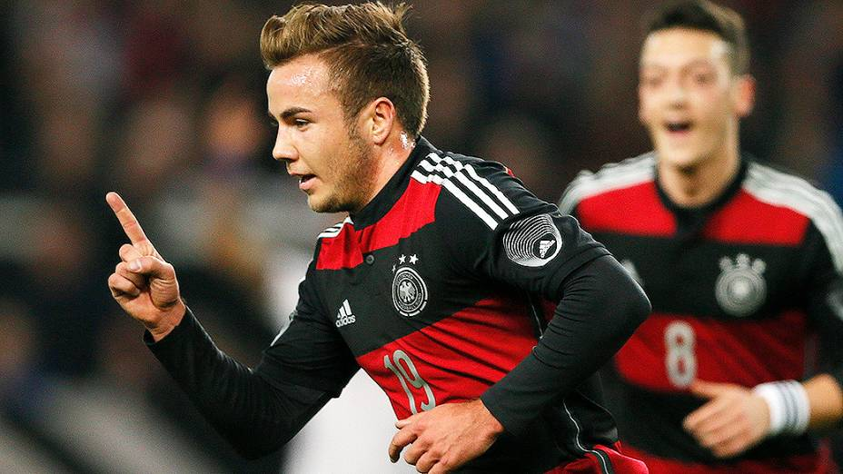 Mario Goetze marcou o gol da vitória da Alemanha por 1 a 0 sobre o Chile em amistoso disputado na cidade de Stuttgart