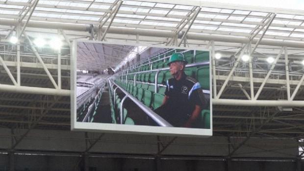 Telão da arena Palmeiras