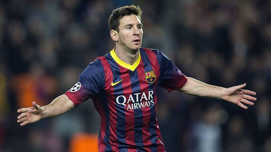 Messi marcou o primeiro do Barcelona na vitória desta quarta-feira