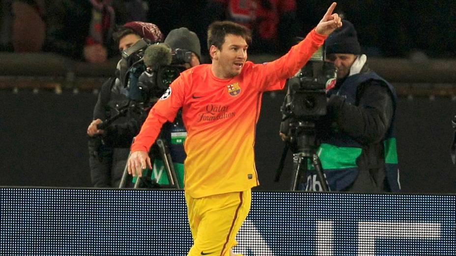 Messi, contra o PSG: melhor jogador do mundo