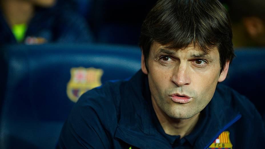 Tito Vilanova, como assistente de Guardiola no Barcelona em 2010