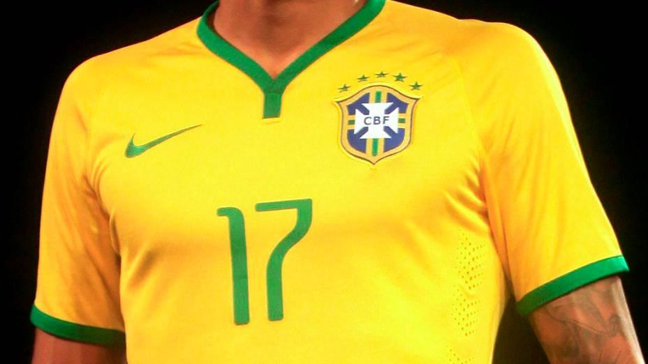 A nova camisa da seleção brasileira, para a Copa de 2014