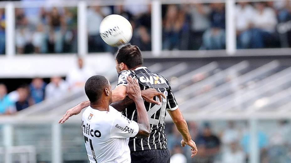 Final do Campeonato Paulista entre Santos e Corinthians na Vila Belmiro