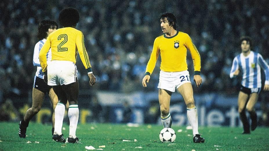 Chicão, da seleção Brasileira durante jogo entre Brasil 0 x 0 Argentina, partida válida pela Copa de Mundo de 1978
