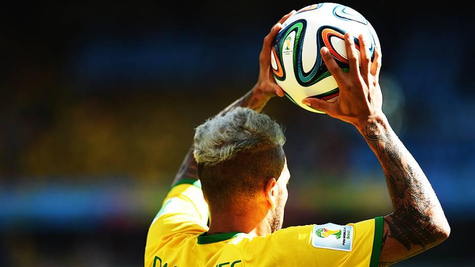 Daniel Alves, lateral da seleção brasileira