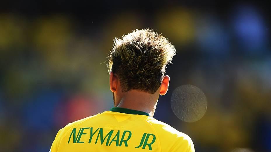 O atacante Neymar