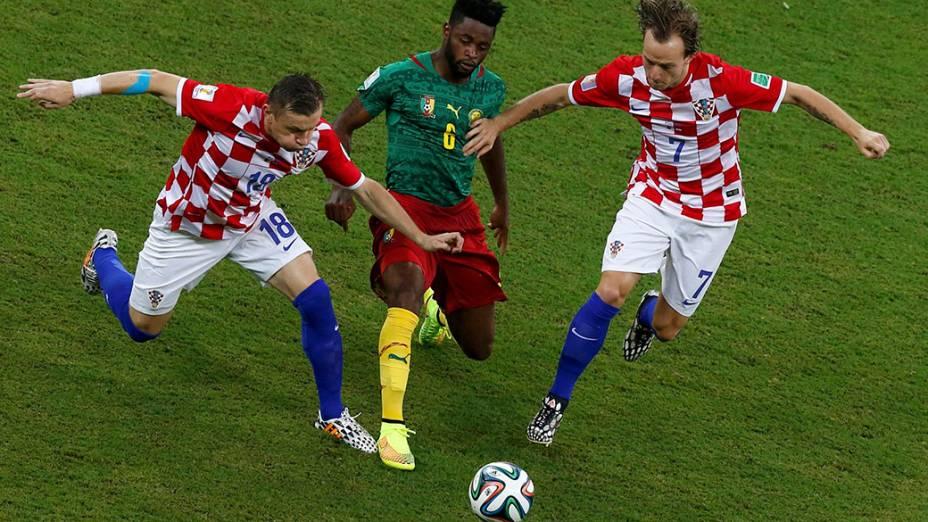 Lance no jogo entre Camarões e Croácia na Arena Amazônia, em Manaus