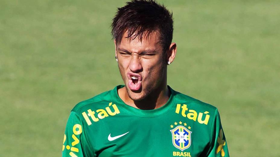 Treino da Seleção Brasileira em Fortaleza antes do jogo contra o México, em 17/06/2013