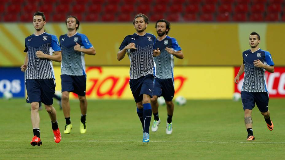Treino da seleção da Itália em Recife, antes do jogo contra o Japão, em 18/06/2013