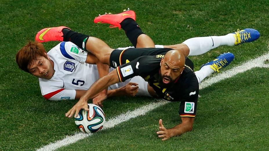 Lance no jogo entre a Coreia do Sul e Bélgica no Itaquerão, em São Paulo<br><br>