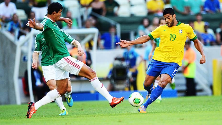 Hulk durante partida entre Brasil e México, pela Copa das Confederações, nesta quarta-feira (19), em Fortaleza