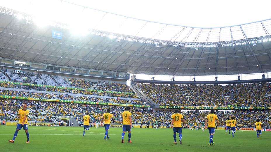 Brasil vence o México pela segunda rodada da Copa das Confederações no Castelão, em Fortaleza