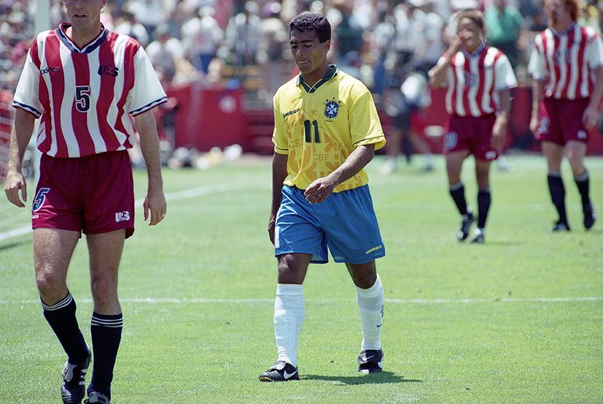 Romário no jogo contra os Estados Unidos pela Copa do Mundo de 1994