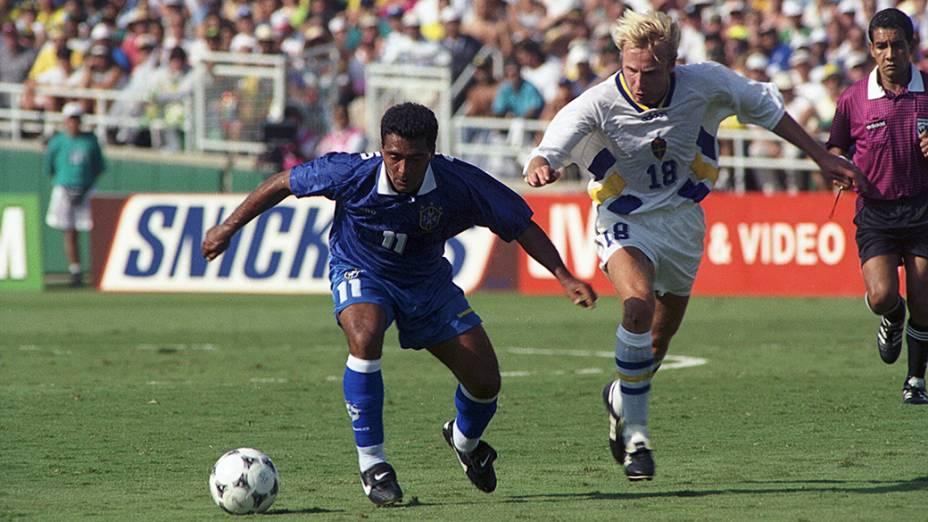 Romário na semifinal da Copa do Mundo de 1994 contra a Suécia