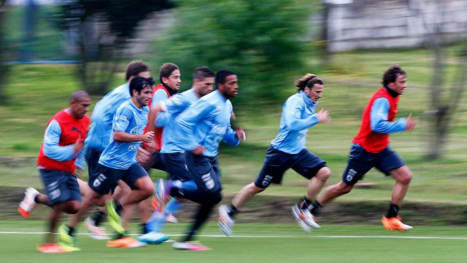 Seleção uruguaia se prepara para a Copa do Mundo no Complexo Celeste em Canelones, Uruguai