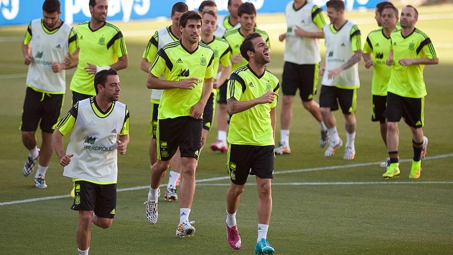 Seleção espanhola realiza treinamento em preparação à Copa do Mundo, em Las Rozas, cidade próxima a Madri
