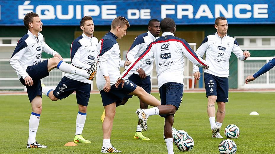 Preparação da seleção francesa, em Clairefontaine