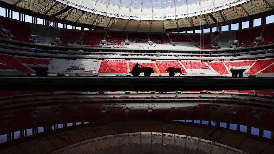 Obras do estádio Mané Garrincha em Brasília