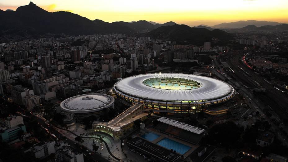 Imagem aérea do Maracanã, no Rio de Janeiro