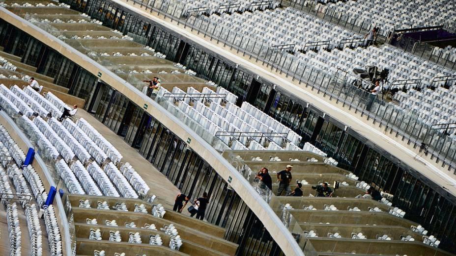 Movimentação no estádio do Mineirão antes do amistoso entre Brasil e Chile