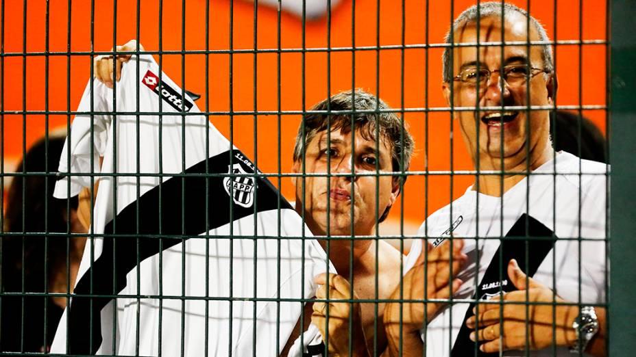 Torcida da Ponte Preta antes da primeira partida da final da Copa Sul-Americana 2013, contra o Lanús, no Pacaembu