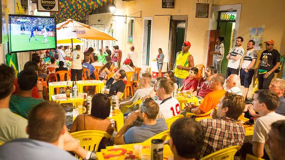 Clima de Copa no Pelourinho em Salvador (BA)