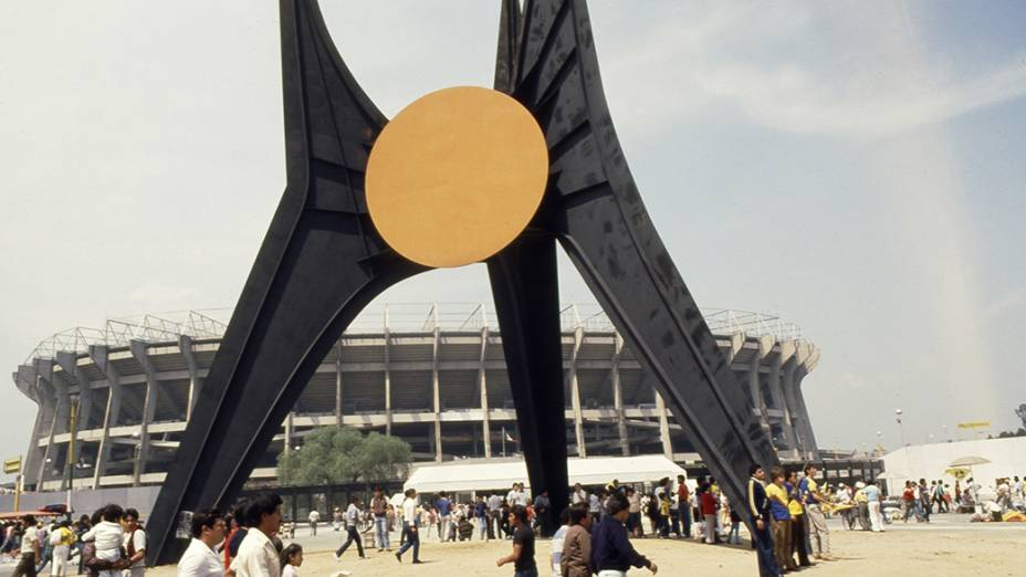 O Estádio Azteca, palco da final da Copa do Mundo de 1986