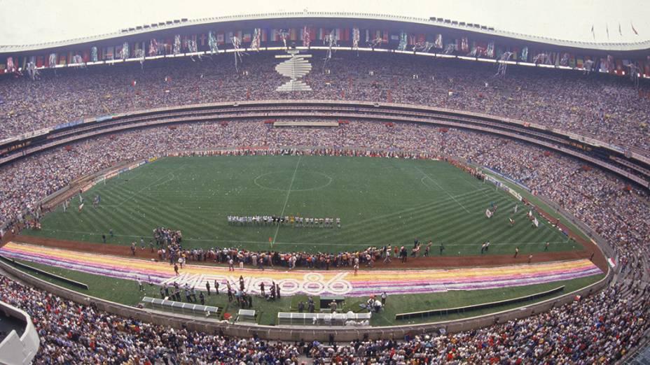 O jogo de abertura da Copa do Mundo de 1986, no México