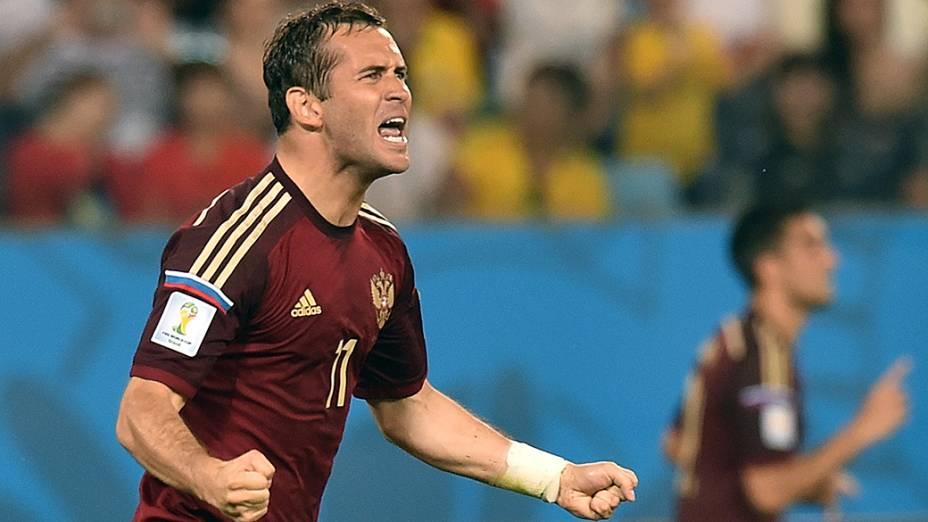 Alexander Kerzhakov, autor do gol de empate da Rússia na partida contra a Coreia do Sul