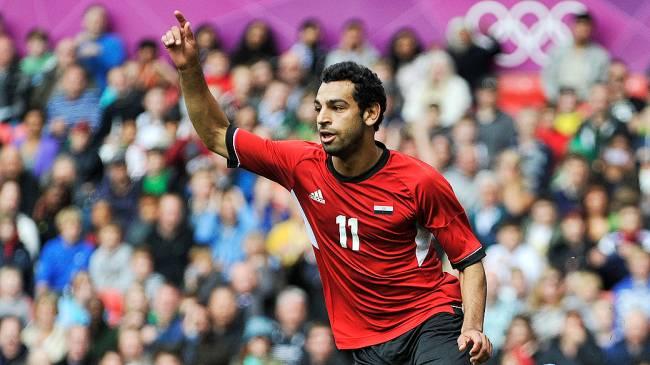 Jogador egípcio Mohamed Salah atuando pela seleção olímpica nos Jogos de Londres, em 2012