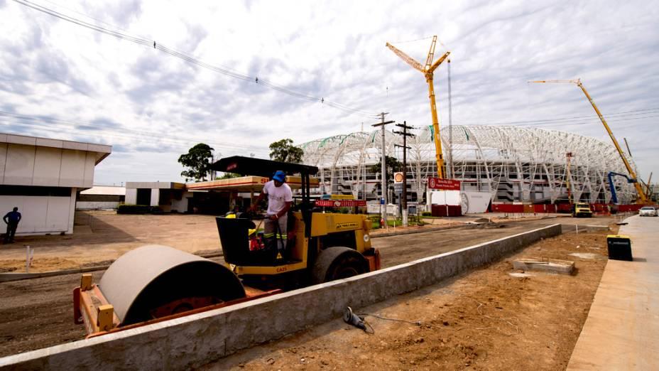 Vista externa da Arena Beira Rio, em Porto Alegre