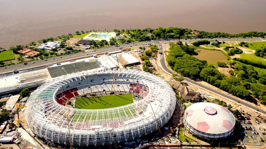 Vista aérea da Arena Beira Rio, em Porto Alegre