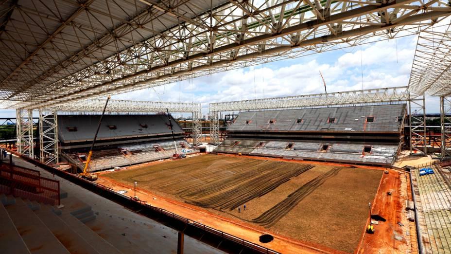 Vista interna da Arena Pantanal, em Cuiabá