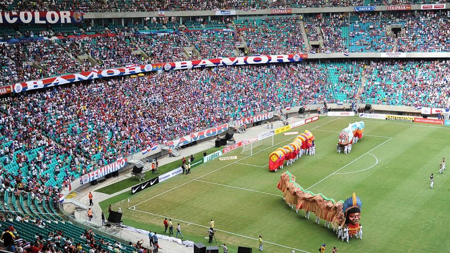 Jogo entre Bahia e Vitória na inaugaração da Arena Fonte Nova, que receberá partidas da Copa das Confederações e da Copa do Mundo