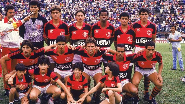 O time do Flamengo em 1987, com Renato Gaúcho, Bebeto e Zico