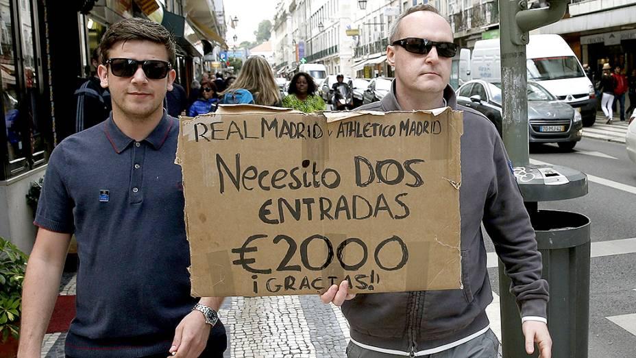 Torcedores ingleses oferecem dois mil euros em um par deingressos da final da Liga dos Campeões, em Lisboa