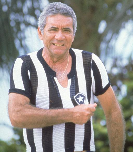 Nílton Santos, ex-jogador do Botafogo em 1982