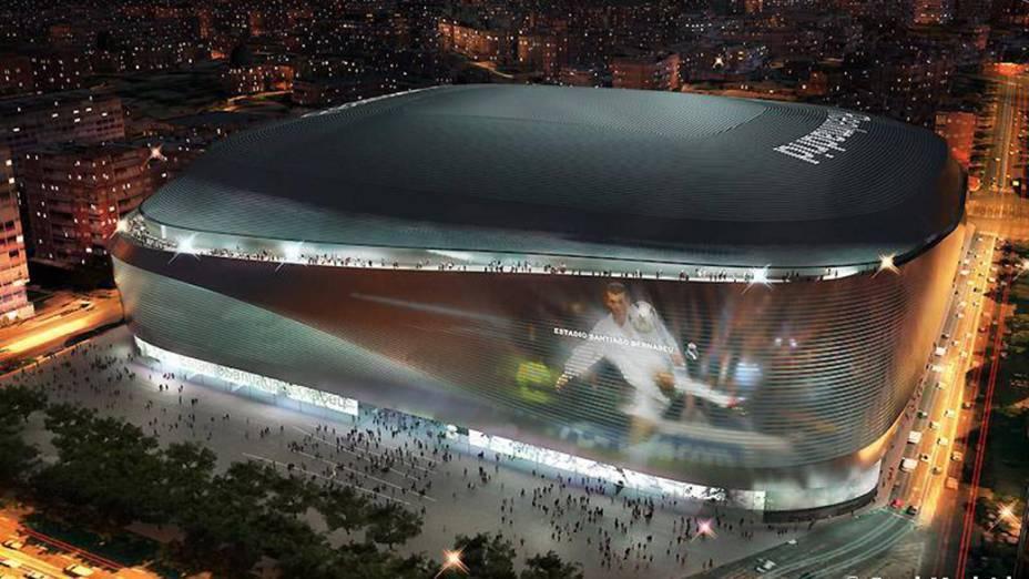 O estádio do Real Madrid passará a ter um centro comercial completo, com shopping center, centro de convenções e até hotel