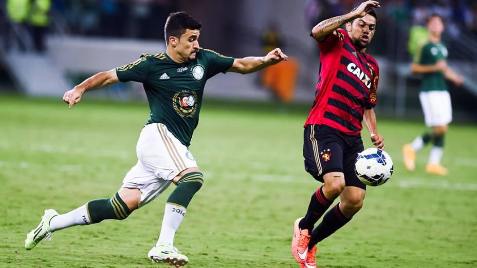 Lance no jogo entre Palmeiras e Sport, na estreia da Arena Palmeiras